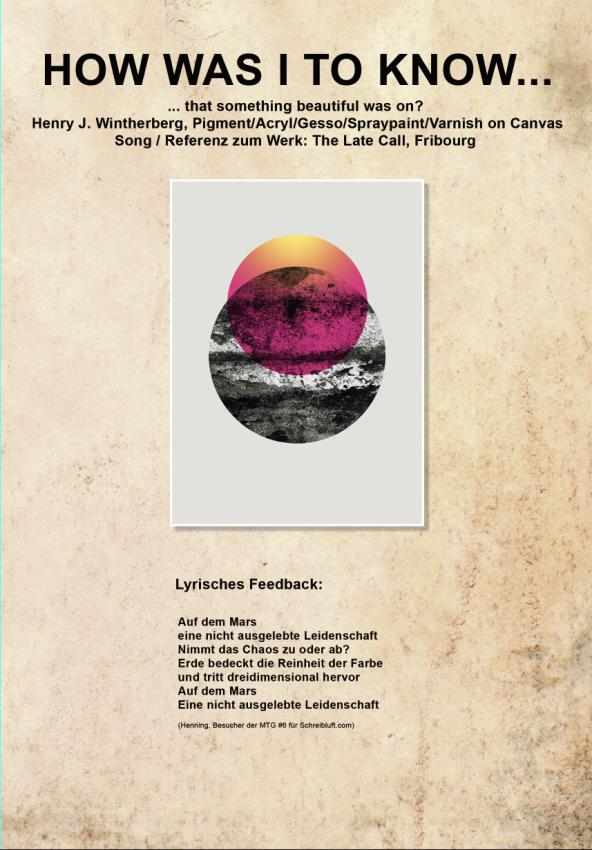 Lyrik Schreiben vor Kunst von Schreibluft.com